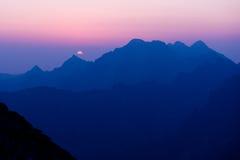 Morgen in hohem Tatras, Slowakei Stockbilder
