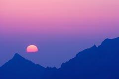 Morgen in hohem Tatras, Slowakei Stockbild