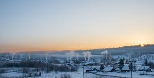 Morgen im Dorf Lizenzfreie Stockfotografie