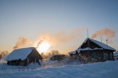Morgen im Dorf Stockfoto