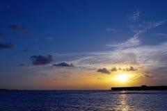 Morgen im Indischen Ozean Stockfotos