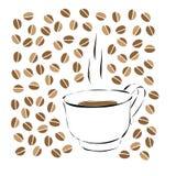 MORGEN-KAFFEE stock abbildung