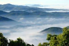 Morgen am Khohong Hügel Lizenzfreie Stockfotos