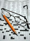 Morgen-Kreuzworträtsel Lizenzfreie Stockfotos