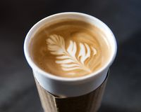 Morgen Latte Stockfotos