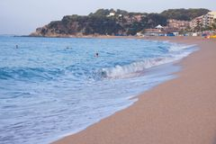 Morgen in Lloret stockfoto