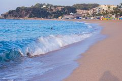 Morgen in Lloret lizenzfreie stockfotos