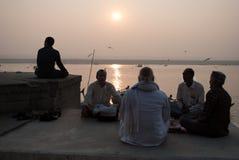 Morgen-Meditation Stockbild