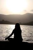 Morgen-Meditation stockfotografie