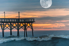 Morgen-Mond lizenzfreie stockfotografie