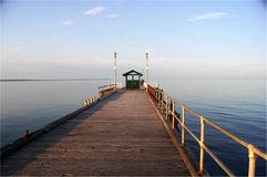 Morgen, Mordialloc Pier, Melbourne, Aust Stockfotos