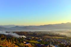 Morgen in PAI, Thailand Lizenzfreies Stockbild