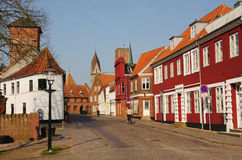 Morgen in Ribe Lizenzfreie Stockfotos