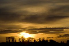 Morgen-Sonnenaufgang stockbild