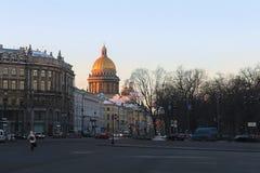 Morgen in St Petersburg Stockfotos