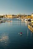 Morgen in Stockholm Stockbilder