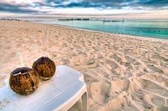 Morgen am Strand stockbilder