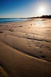 Morgen-Strand-Szene stockfoto