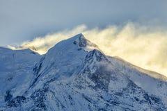 Morgen-Stunden auf Mont Blanc Lizenzfreie Stockfotos