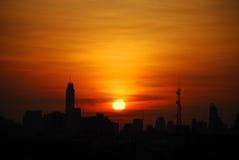 Morgen Sun-Glanz lizenzfreies stockbild