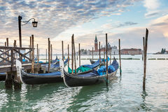 Morgen in Venedig stockbilder