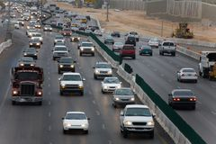 Morgen-Verkehr Stockfoto