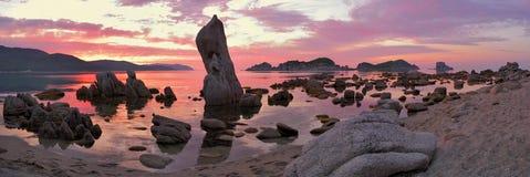 Morgen von großem Ozean lizenzfreies stockfoto