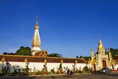 Morgen an Wand wat Phra das Phanom Lizenzfreies Stockfoto