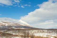 Morgen zum Bergblick bei Abisko, Schweden Stockfotografie