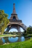 Morgenansicht des Eiffelturms Paris, Frankreich lizenzfreie stockbilder