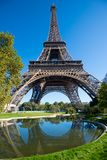 Morgenansicht des Eiffelturms Paris, Frankreich lizenzfreies stockfoto