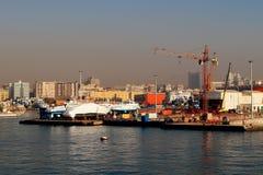 Morgenansicht des Hafens von Neapel Stockfotografie