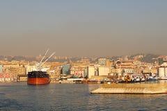 Morgenansicht des Hafens von Neapel Lizenzfreie Stockfotos
