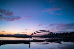 Morgenansicht in Putrajaya von Taman Sri Empangan lizenzfreie stockbilder