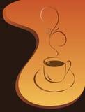 Morgencup schwarzer Kaffee stock abbildung