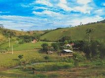 Morgenfarben auf dem Bauernhof Lizenzfreie Stockfotos