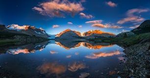Morgenfarben in der Eisfeldmitte Stockfotografie