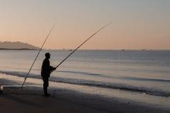 Morgenfischen Stockfotografie