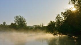 Morgenfluß Stockbild