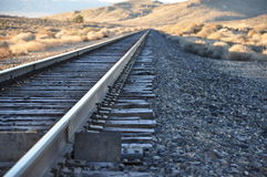 Morgen-Frost-Bahnstrecken stockfotografie