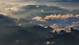 Morgengebirgswolken Lizenzfreie Stockfotografie
