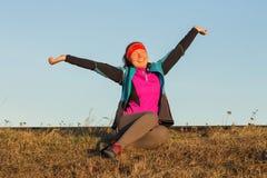 Morgengymnastik der athletischen Frau für Lauf Lizenzfreie Stockfotos