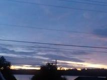 Morgenhimmel Stockfoto