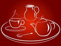 Morgenkaffee Stockbild