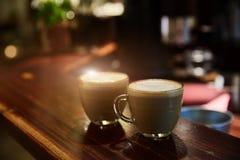 Morgenkaffee-Weinleseton Stockfoto