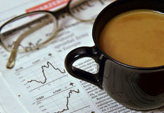 Morgenkaffeegeschäftsmann Lizenzfreie Stockbilder