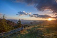 Morgenlandschaft stockbild