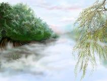 Morgenlandschaft, Abbildung stockbild