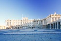 Morgenlicht bei Palacio wirklich, Madrid Stockbild