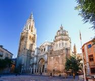 Morgenlicht bei Toledo Cathedral in Toledo, Spanien Lizenzfreies Stockbild